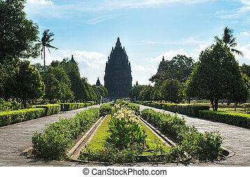 κρόταφος , ινδονησία , χιντού , prambanan., είσοδοs , ιάβα , yogyakarta