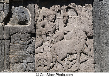 κρόταφος , ξυλογλυπτική , ινδονησία , prambanan