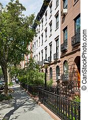 κτίρια , ηλιόλουστος , york , σπίτι στην πόλη , άπειρος εικοσιτετράωρο