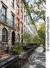 κτίρια , ηλιόλουστος , york , σπίτι στην πόλη , άπειρος εικοσιτετράωρο , chelsea