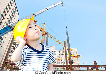 κτίριο , αγόρι , αρχιτέκτονας