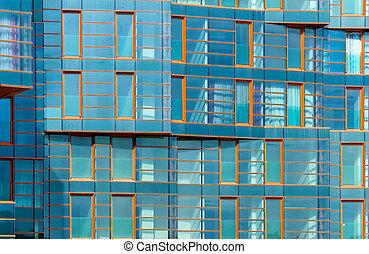 κτίριο , γαλάζιο απόχρωση , μοντέρνος , καθρέφτηs , πρόσοψη
