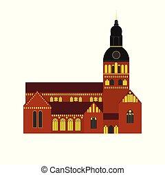 κτίριο , διαμέρισμα , peter's , πόλη , architecture., ταξιδεύω , riga , εξοχή , λατβία , εκκλησία , διακριτικό σημείο , εικόνα , st. , επίσκεψη στα αξιοθέατα