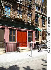 κτίριο , εμπνευσμένος , δρόμοs , york , πρόσοψη ,...