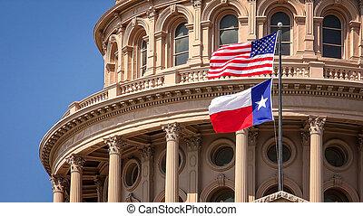 κτίριο , καπιτώλιο , ιπτάμενος , δηλώνω , αμερικάνικος αδυνατίζω , austin , texas