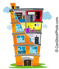 κτίριο , κατοικητικός