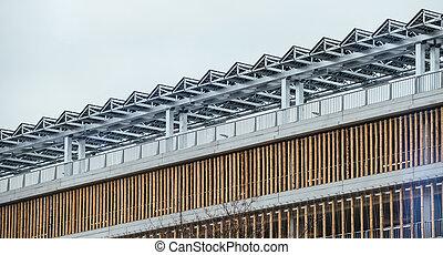 κτίριο , κελί , μοντέρνος , ηλιακός , οροφή