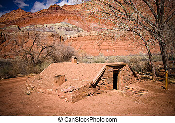 κτίριο , μοναχικός , γριά , ράντσο , λαγκάδα , θέση , ιστορικός , arizona
