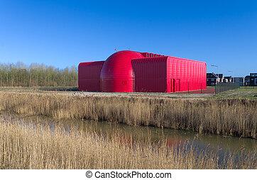 κτίριο , μοντέρνος , κόκκινο