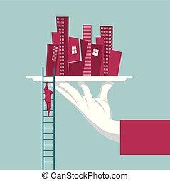 κτίριο , πόλη , δίσκοσ. , ανάβαση , ladder., αχυρόστρωμα , επιχειρηματίας