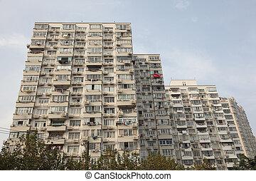 κτίριο , σανγκάι , διαμέρισμα , μοντέρνος , κίνα