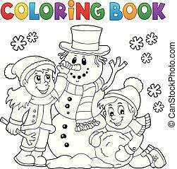 κτίριο , χιονάνθρωπος , μπογιά , μικρόκοσμος , 1 , βιβλίο