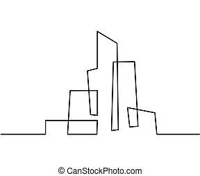 κτίριο , cityscape , αμυντική γραμμή αριστοτεχνία , silhouette.