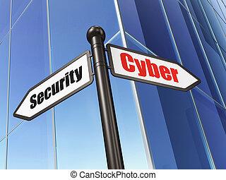 κτίριο , cyber , ασφάλεια , φόντο , ασφάλεια , concept: