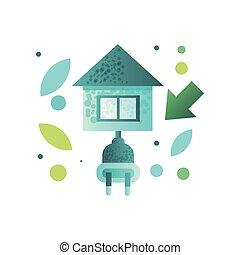 κτίριο , eco, ενέργεια , σύγχρονος , σπίτι , ικανός , μικροβιοφορέας , εικόνα , φόντο , άσπρο