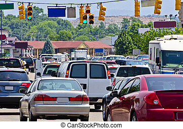 κυκλοφορία , βαρύς , gridlock