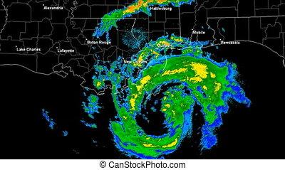 κυκλώνας , isaac, (2012), landfall