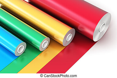 κυλιέμαι , από , χρώμα , βυνίλιο , πλαστικός , ταινία