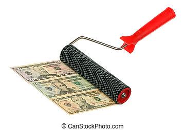 κυλινδρικό πινέλο , χρήματα