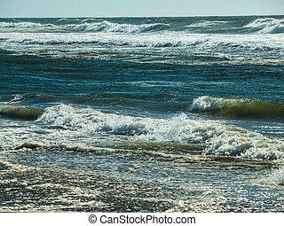 κυλιομένος , παραλία , ανέφελος εικοσιτετράωρο , ανεμίζω