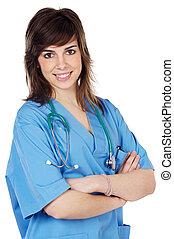 κυρία , ελκυστικός , γιατρός