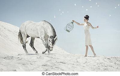 κυρία , εξαιρετικά , άλογο , αόρ. του shoot , αισθησιακός