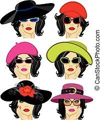 κυρία , καπέλο