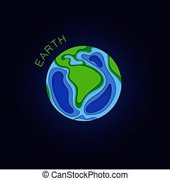 κόβω , πλανήτης , μικροβιοφορέας , χαρτί , earth., style.