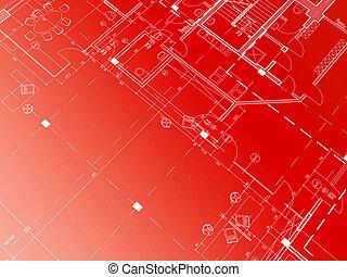 κόκκινο , αρχιτεκτονικό σχέδιο