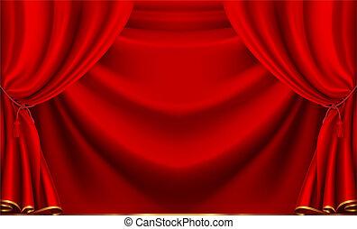 κόκκινο , θέατρο , κουρτίνα , μικροβιοφορέας