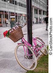 κόκκινο , και , ροζ , ποδήλατο