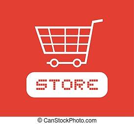 κόκκινο , κατάστημα , εικόνα
