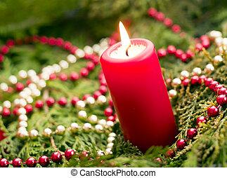 κόκκινο , κερί