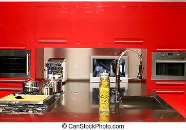 κόκκινο , κουζίνα