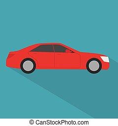 κόκκινο , μικροβιοφορέας , αυτοκίνητο , εικόνα , icon-