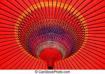 κόκκινο , ομπρέλα ηλίου , κάτω από