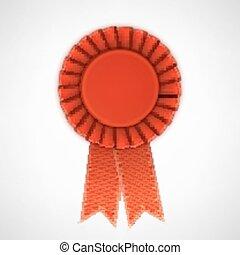 κόκκινο , ρεαλιστικός , ύφασμα , ροδοειδές κόσμημα , με , ribbons.