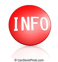 κόκκινο , σήμα , με , πληροφορίες