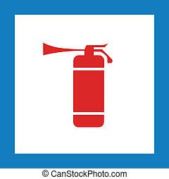 κόκκινο , σήμα , πυροσβεστήρας