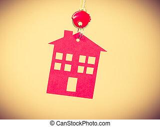 κόκκινο , σπίτι , σύμβολο , κλειδί