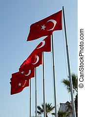κόκκινο , τούρκικος , σημαίες