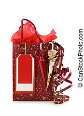 κόκκινο , τσάντα για ψώνια