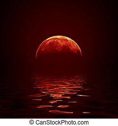 κόκκινο , φεγγάρι