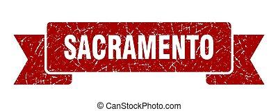 κόκκινο , ribbon., σήμα , grunge , oρχήστρα , sacramento