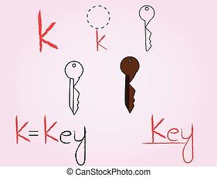 κόμικς , k , αλφάβητο