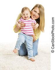 κόρη , βρέφος , γριά , μητέρα , παιδί , νέος , 1 βρέφος δεσποινάριο , μαμά , έτος , άφωνος , άσπρο , παιδί , ευτυχισμένος , χαλί