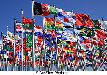 κόσμοs , εθνικός , σημαίες