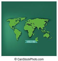 κόσμοs , μικροβιοφορέας , illustration., χάρτηs