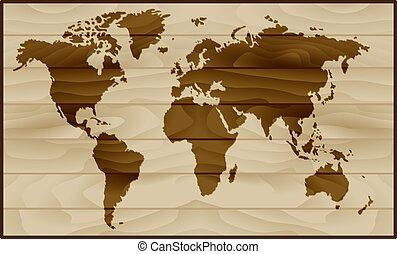 κόσμοs , ξύλο , φόντο , χάρτηs
