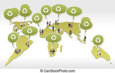 κόσμοs , πάνω , άνθρωποι , χάρτηs